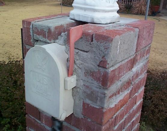 brick mailbox flag. Beautiful Brick Brick Mailbox Flag Throughout I