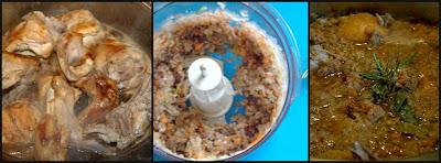 Coniglio al civet prepariamo il fegato tritato con le cipolle
