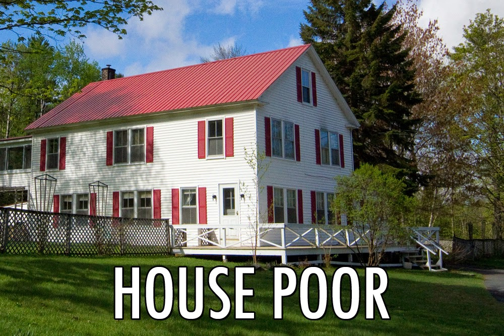 "What it means to be ""house poor"""