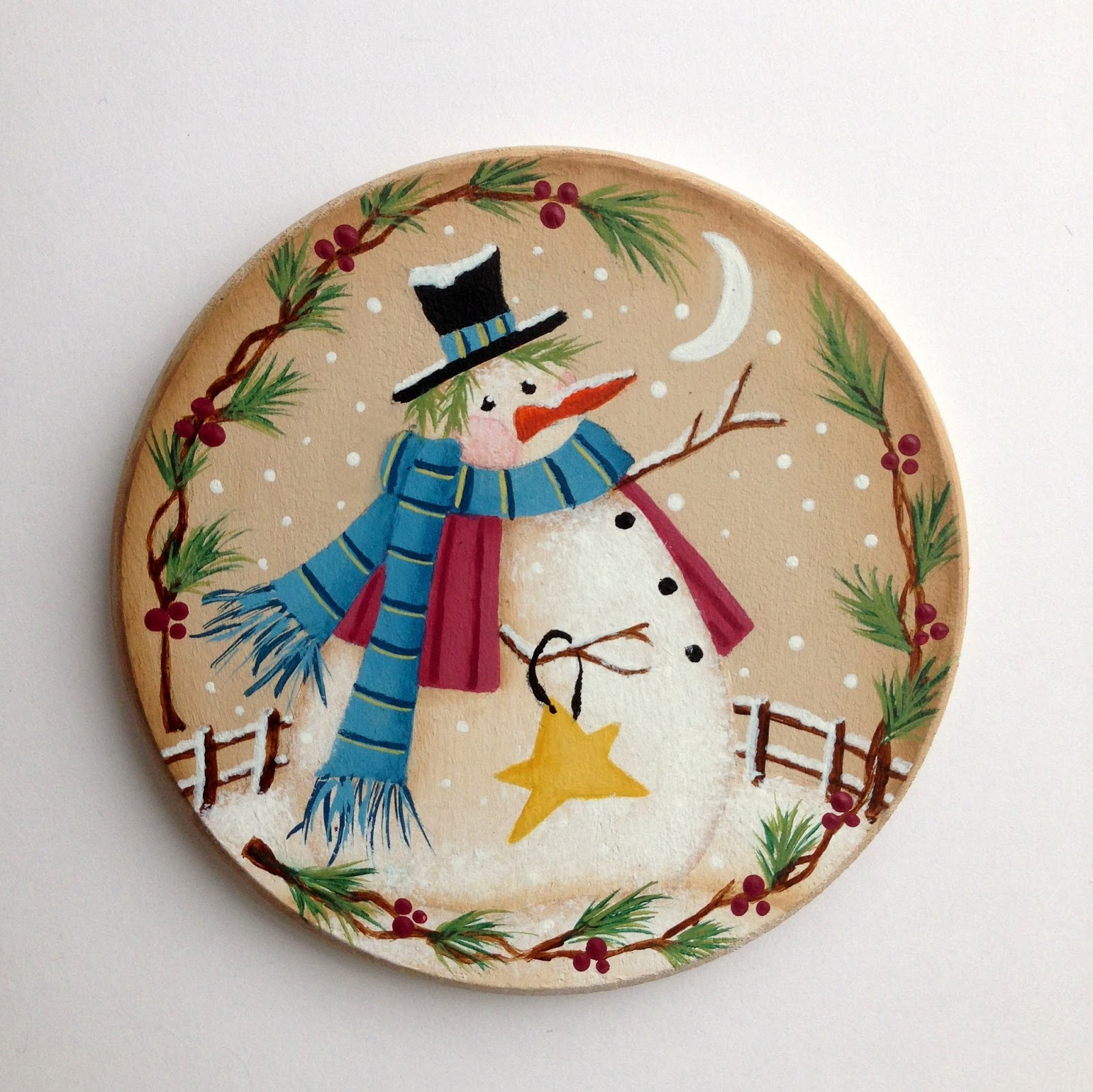 artful evidence decorative painting snowman