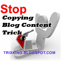 Disable right click on Blogger and protect it from CopyCats