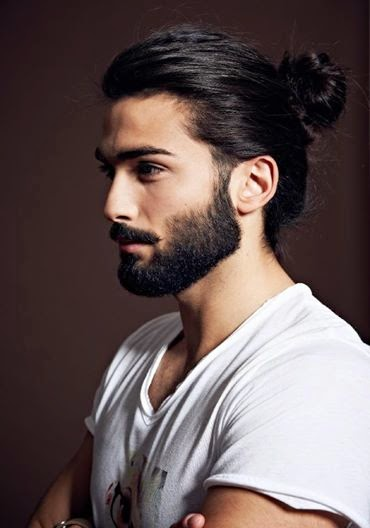 Long hairstyle For a man
