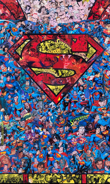 """Superman Chest"" Print by Mr Garcin x Geek Art x French Paper Art Club"