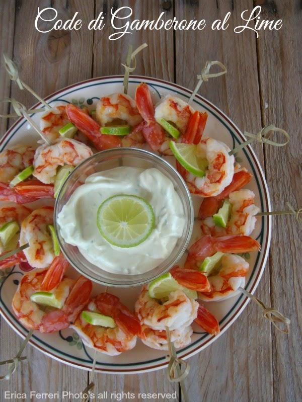 Antipasti di pesce - Code di Gamberone al lime