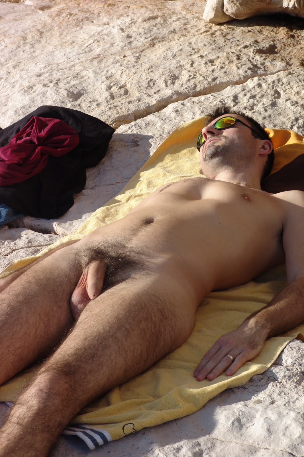 hot man naked at beach