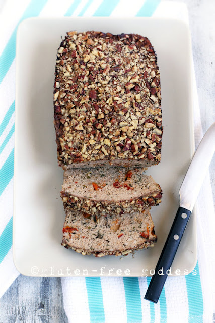 Karina's Gluten-Free Turkey Meatloaf with Sundried Tomatoes and Pecan Crust