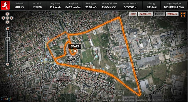 Semimaraton Timisoara 2013 Traseu