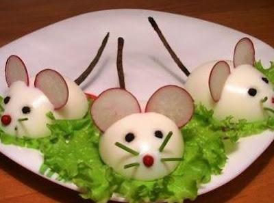 Ideas brillantes para el hogar comida para ni os decorada - Comida para ratones ...
