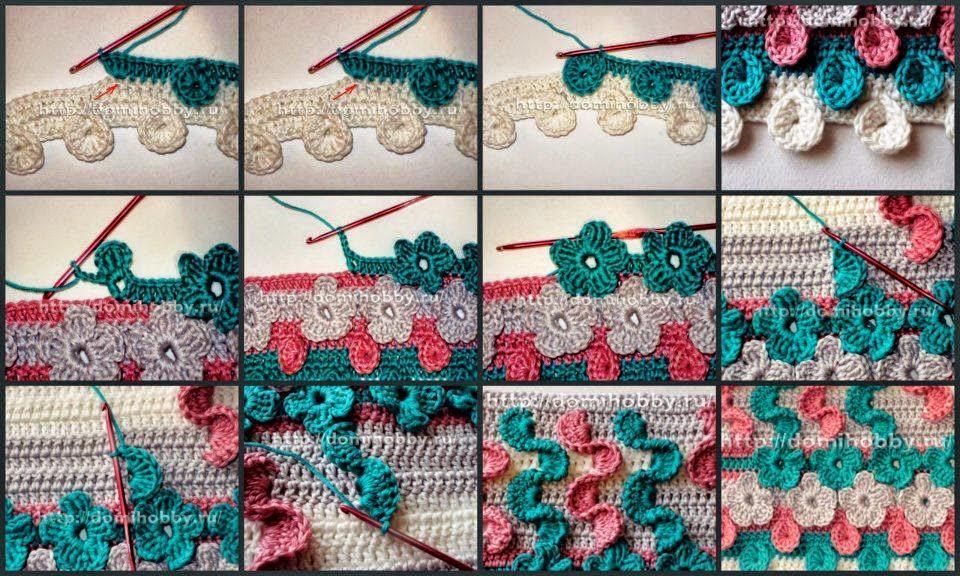 Puntos muy originales al crochet: tejido tridimensional   Crochet y ...
