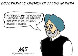 india, studio aperto, swensazionalismo, marò, vignetta, satira