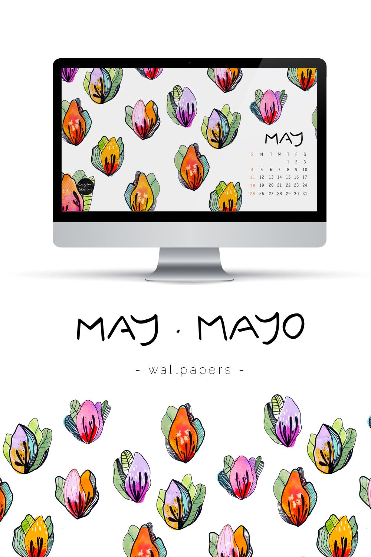 wallpaper Mayo Cayena blanca