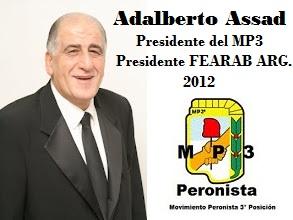 ADALBERTO ASSAD, NUEVO PRESIDENTE DE FERAB ARGENTINA - SET 2012