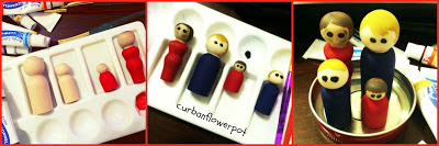 wooden peg people, how to paint wooden pegs, peg people wood, vintage fisher price, fisher price little people