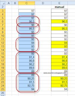 VBA: Una macro para autocompletar gradualmente intervalos vacíos.
