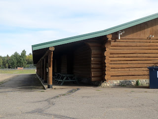 huge log building timber hall embarrass mn