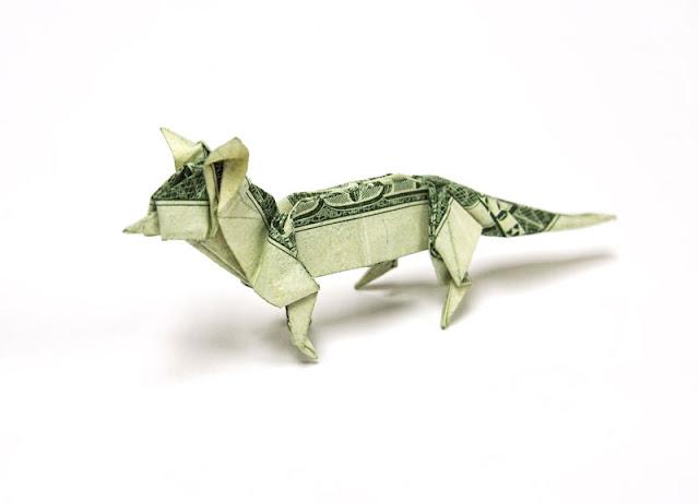 Amazing Origami Using Only Dollar Bills dog