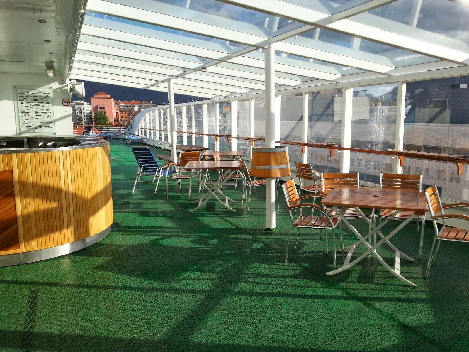 Hurtigruten MS Polarlys - Open Deck and Outdoor Bar