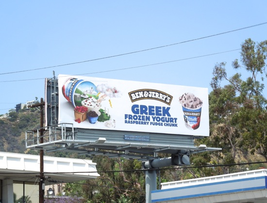 Ben Jerrys Greek Raspberry Fudge Chunk billboard