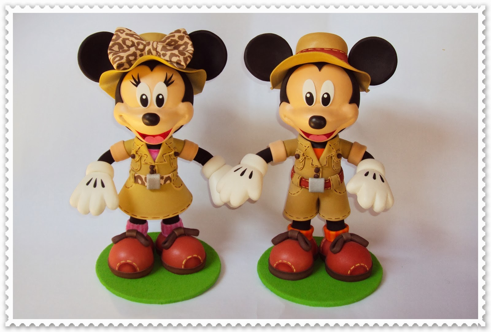 eva charmosa mickey e minnie safari em eva 3d. Black Bedroom Furniture Sets. Home Design Ideas