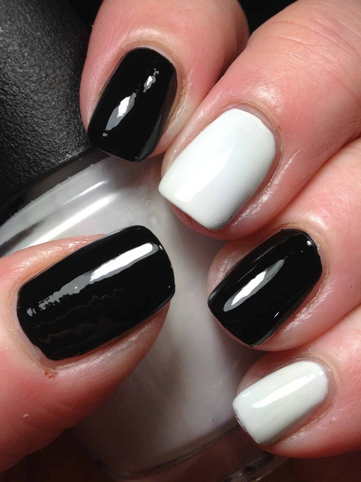 Canadian Nail Fanatic 40 Great Nail Art Ideas Black White