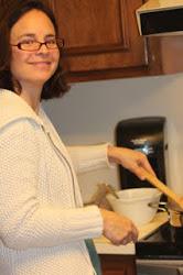 Lisa making giblet gravy...yum