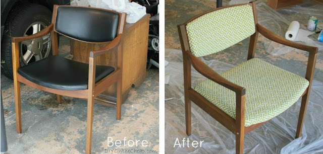 Thrift Store Chairs before and after