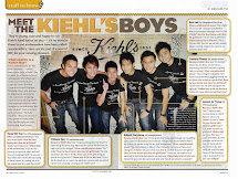 Featured Kiehl's Boy on 8 Days Magazine!