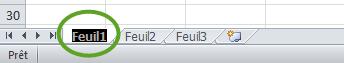 Double clic sur Feuil1