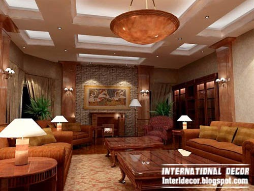 unique false ceiling, led ceiling lights, lighting design