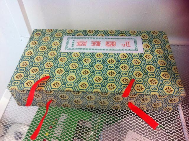 Caja con letras chinas diy