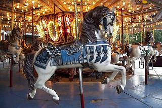 wooden carousel