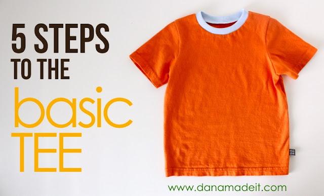 basic Tshirt sewing tutorial