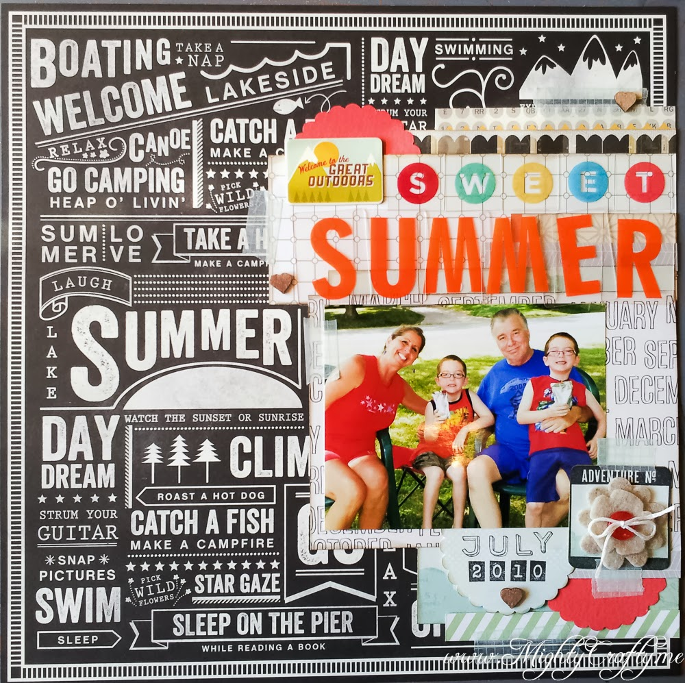 Sweet Summer layout -- www.MightyCrafty.me