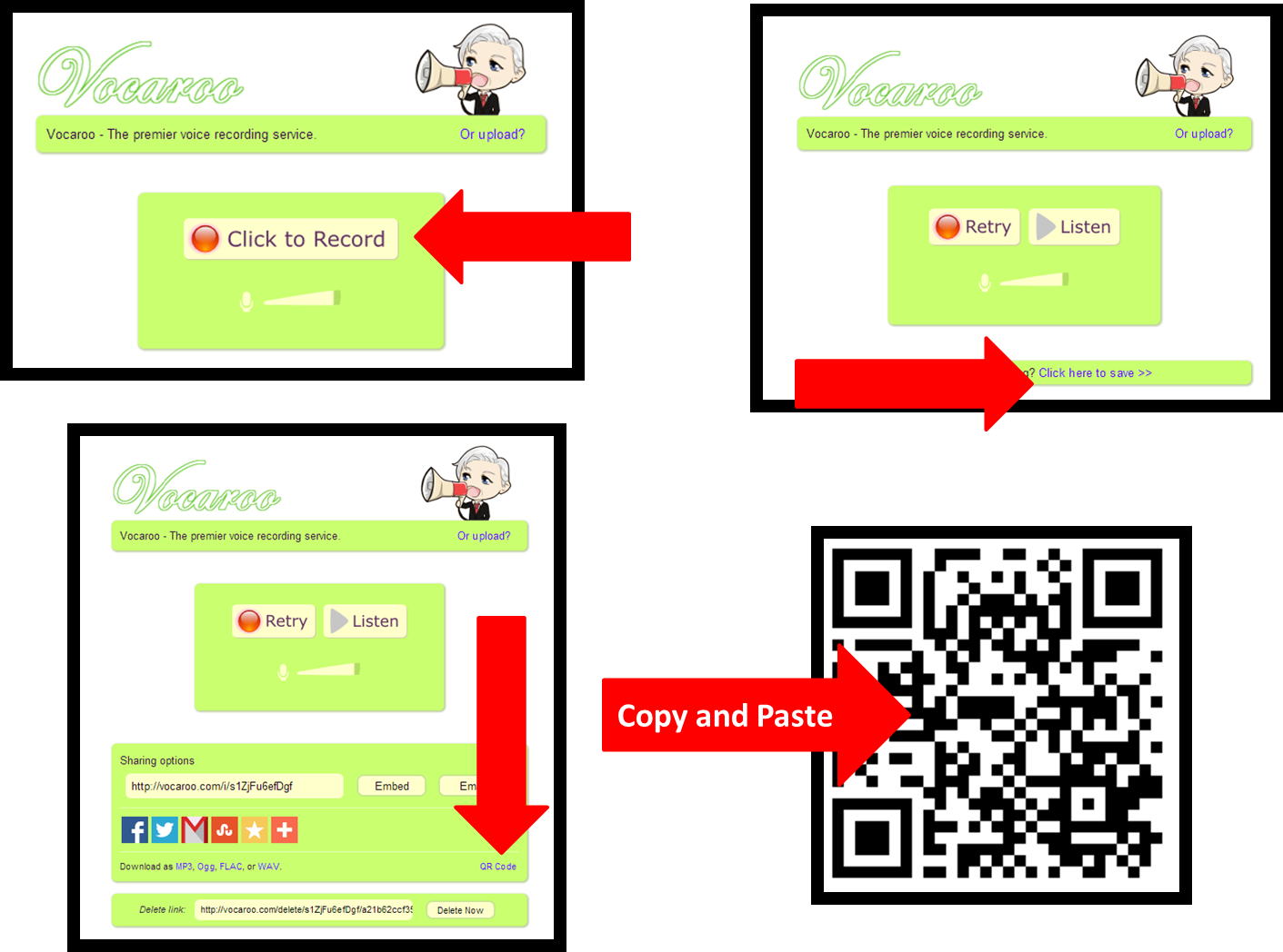 how to download from vocaroo