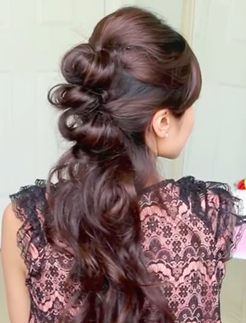 Easy Prom Hairstyle: The Half Updo Hairstyle Tutorial