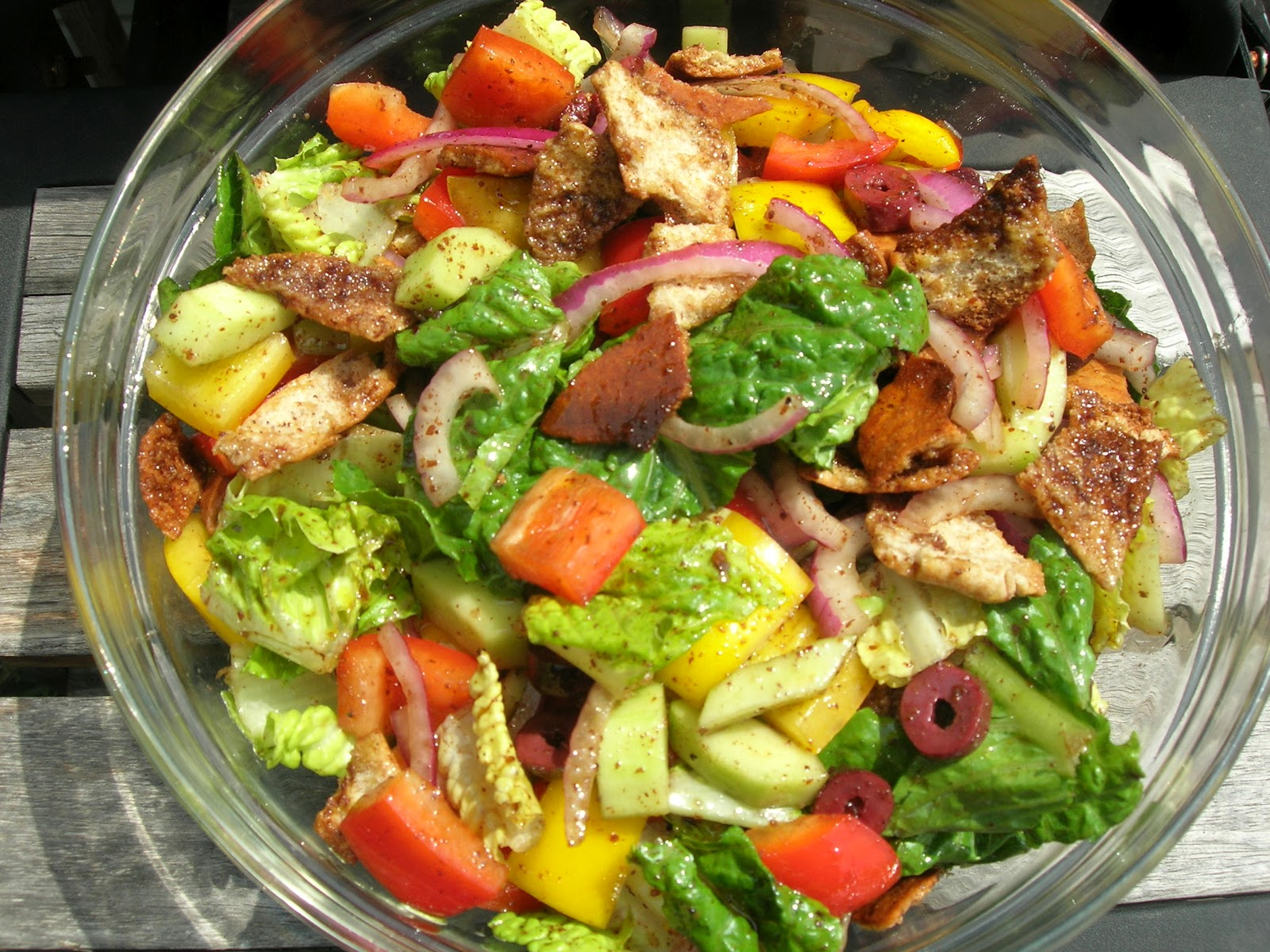 Vital Vegan: Fattoush Salad with Lemon Balsamic Dressing