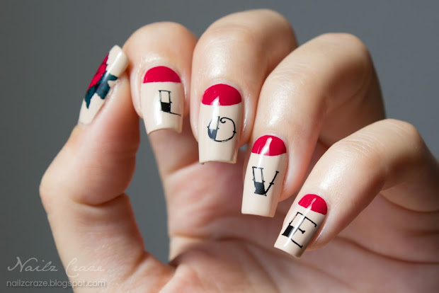 vintage tattoo nail art - nailz