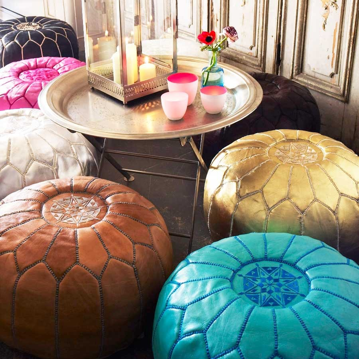Add A Little Colour Moroccan Splendor Mesmerizing Turquoise Moroccan Pouf