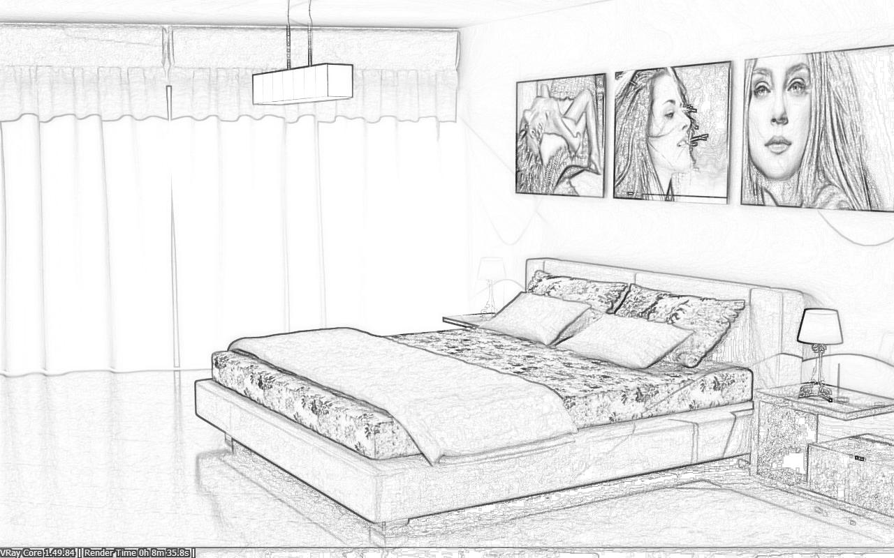 Camera da letto autocad casamia idea di immagine for Letto 3d dwg