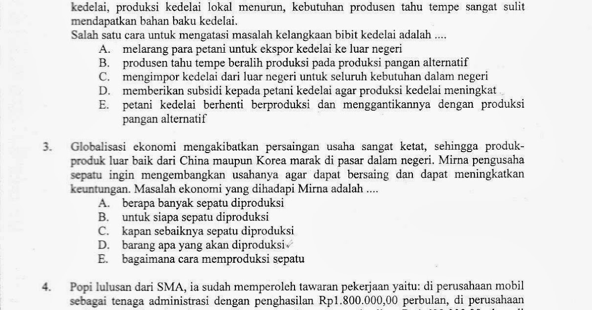 Soal Un Ekonomi Sma Ips Kode 32 Ta 2012 2013 Download Soal Sma Ma Gratis