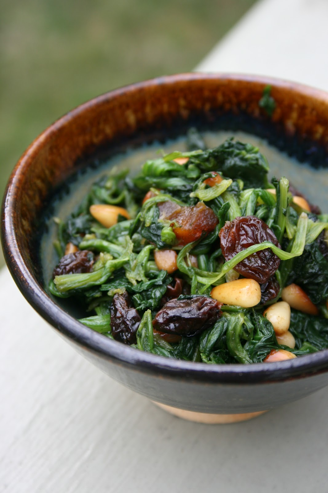 catalan style with spinach and dry fruits this aft catalan style ...