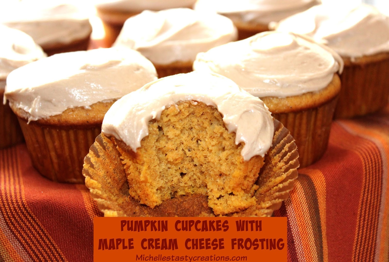 ... Tasty Creations: Pumpkin Cupcakes with Maple Cream Cheese Frosting