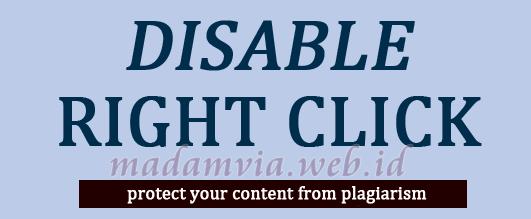 Cara Menonaktifkan Klik Kanan Pada Blog (Stop Copas)