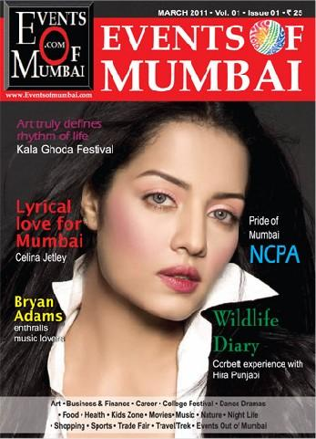 Celina Jaitley - Celina Jaitley On Events Of Mumbai Magazine Cover March 2011 Edition