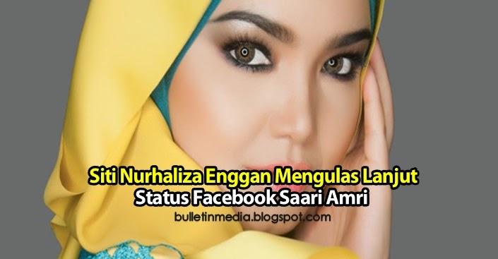 Siti Nurhaliza Enggan Mengulas Lanjut Status Facebook Saari Amri