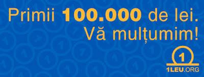 Va multumim pentru primii 100000 lei