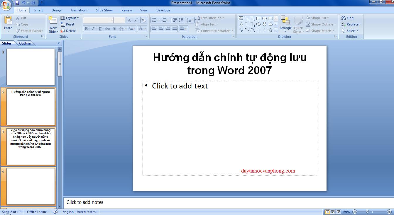 Khóa học powerpoint tạ hà nội