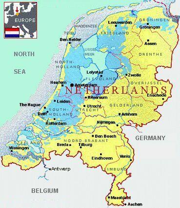 Maps of Netherlands HollandCitiesTourist Map of Netherlands