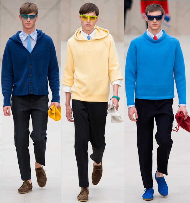 Burberry mens spring 2014 colored sweaters and hoodies