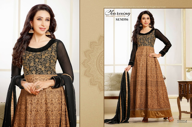 Karishma Kapoor Georgette Long Gorgeous Anarkali Suit